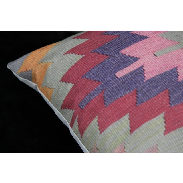 Diamond Pattern Kilim Inspired Print Pillows - a Pair-16'' - Image 6 of 6
