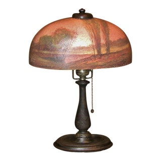 Handel Boudoir Reverse or Inside Painted Lamp For Sale