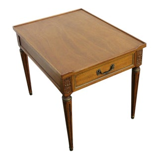 20th Century Traditional Henredon Furniture Mahogany Nightstand Side End Lamp Table For Sale