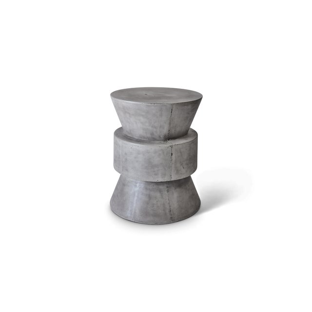 Contemporary Jackson Stool in Dark Gray For Sale - Image 3 of 3