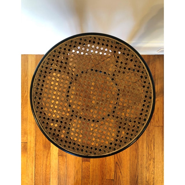 Talian Antique Bentwood and Cane Cafe Stool For Sale In New York - Image 6 of 10
