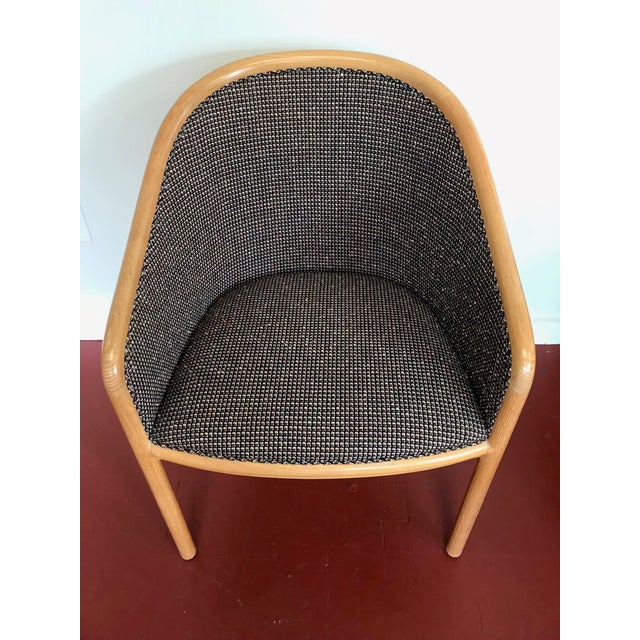 "Ward Bennett for Brickel Associates (Now Geiger) ""Landmark Chair"" From Herman Miller - Set of 6 For Sale - Image 9 of 11"