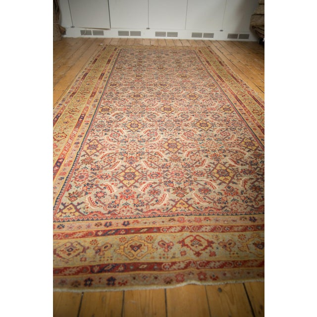 "Old New House Antique Distressed Malayer Rug Runner - 6'5"" X 12'8"" For Sale - Image 4 of 13"