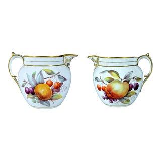 Antique Davenport Porcelain Jug Decorated With Fruit, Circa 1815-20. For Sale