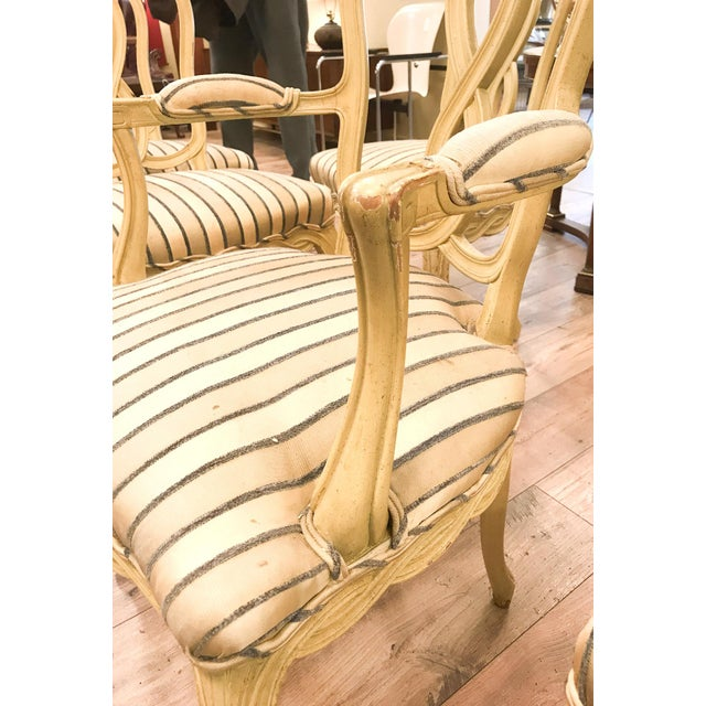 Set of 6 Mid Century Hollywood Regency Ribbon Back Dining Chairs - Image 8 of 12