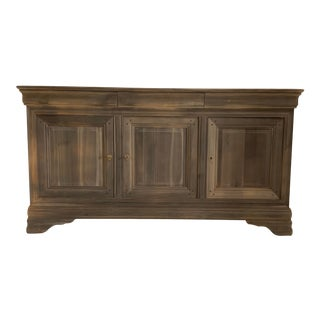 French Louis Philippe Style Grey Finish Sideboard For Sale