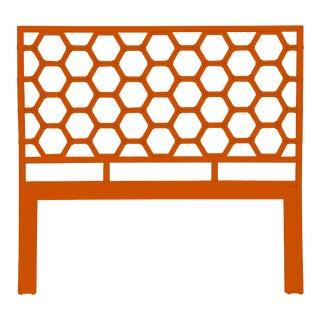 Honeycomb Headboard Queen - Orange For Sale