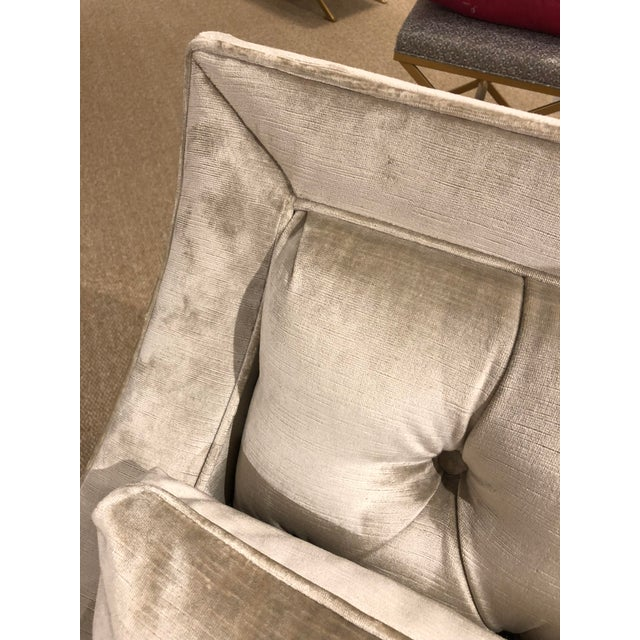 Fabric Kingston Transitional Scalamandre Velvet Upholstered Sofa For Sale - Image 7 of 12