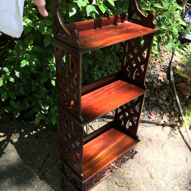 Thomas Chippendale Wall Shelf Storage For Sale - Image 4 of 7