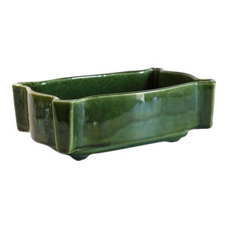 Mid-Century Hunter Green Planter For Sale