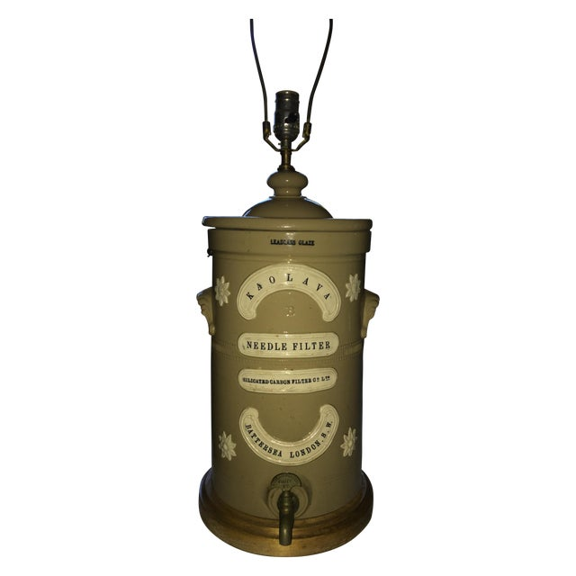 Antique London Water Filter Lamp - Image 1 of 6
