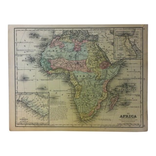 """Antique Mitchell's New School Atlas Map, """"Africa"""" by e.h. Butler & Co. Publishers - 1865 For Sale"""