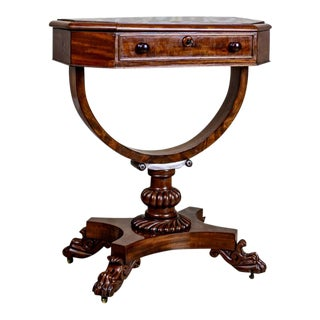 1850s Victorian Sewing Table For Sale