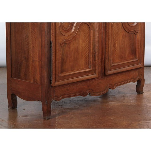 French Louis XV Walnut Armoire, Circa 1800s - Image 10 of 11