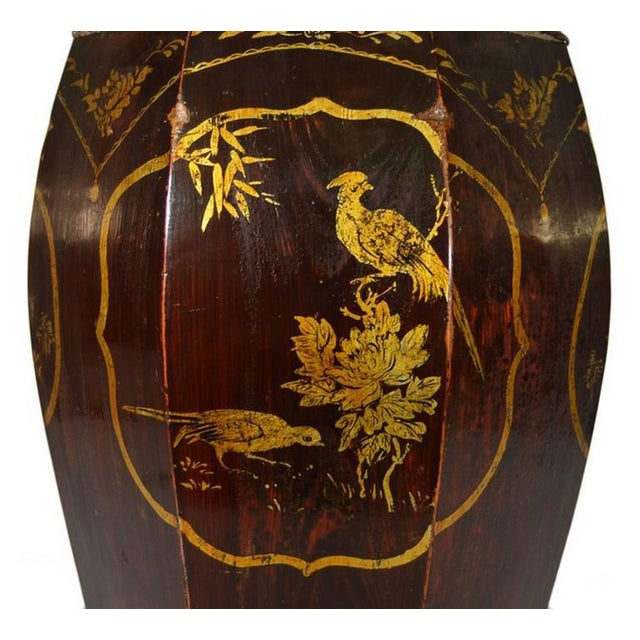 Hand-Painted Grain Storage Barrel With Medallions From, China, 19th Century For Sale - Image 9 of 11