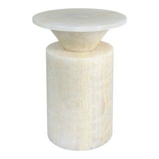 Modern Handcrafted Coffee Table in Italian Marble by Karen Chekerdjian For Sale