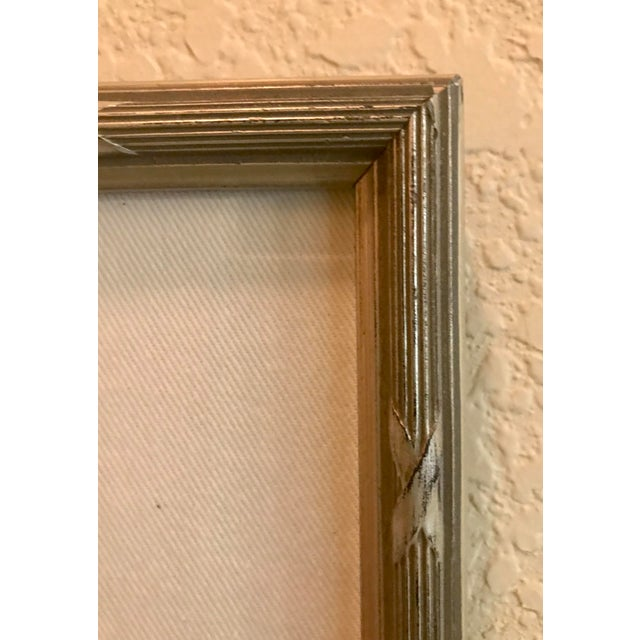 Contemporary Small Matted Painting #3 With Silver Leaf Frame by Allen Kerr For Sale - Image 3 of 4