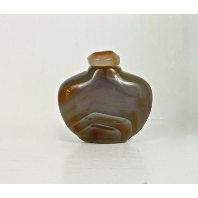 Polished Yellow Agate Snuff Bottle - Image 3 of 4