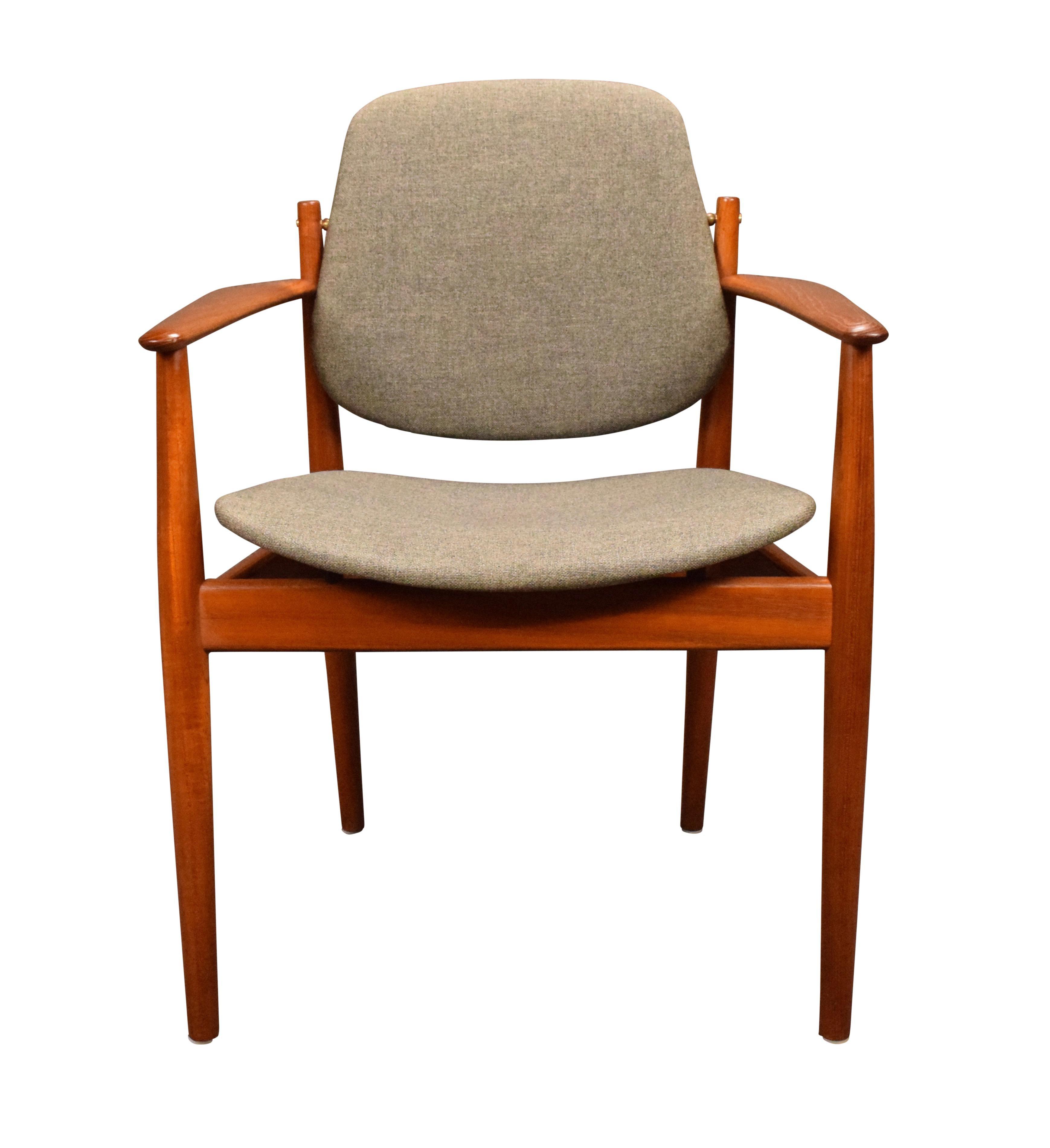1960s Danish Modern Arne Vodder Teak Chair