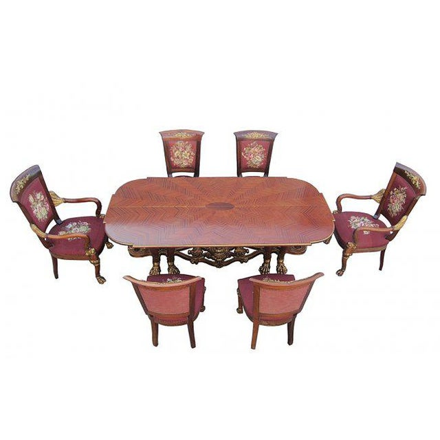Phyllis Morris Conversion Console/Dining Table With Set of 6 Chairs For Sale - Image 9 of 9