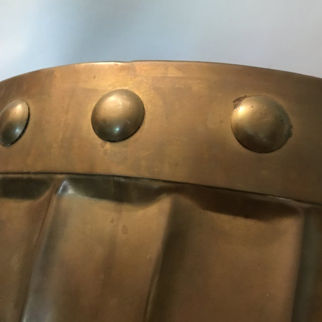 Fluted Brass Planter For Sale - Image 9 of 11