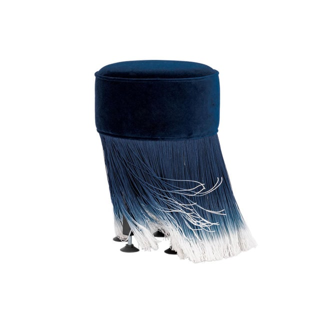 Blue Velvet Small Anami Pouf By Moooi This Amami pouf from Moooi is simply irresistable. Dressed in heart-warming blue...
