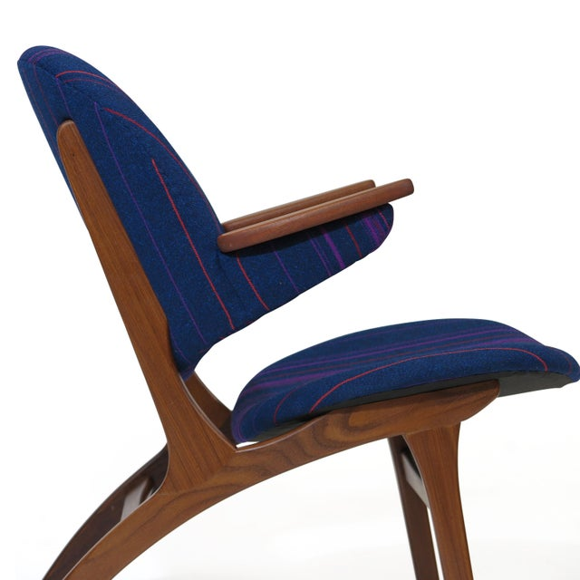 Carl Edward Matthes Danish Teak Lounge Chairs - a Pair For Sale In San Francisco - Image 6 of 10