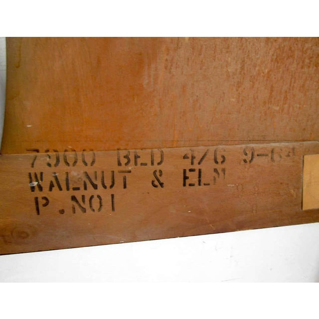 Brown Mid-Century Modern Headboard For Sale - Image 8 of 9