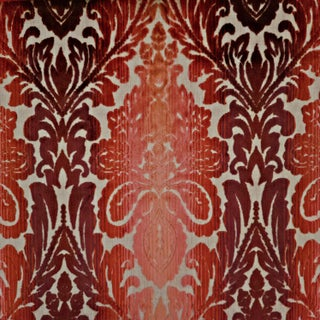 Lee Jofa Lotus Medallions in Rose Ombre Cut Velvet Designer Fabric- By the Yard For Sale