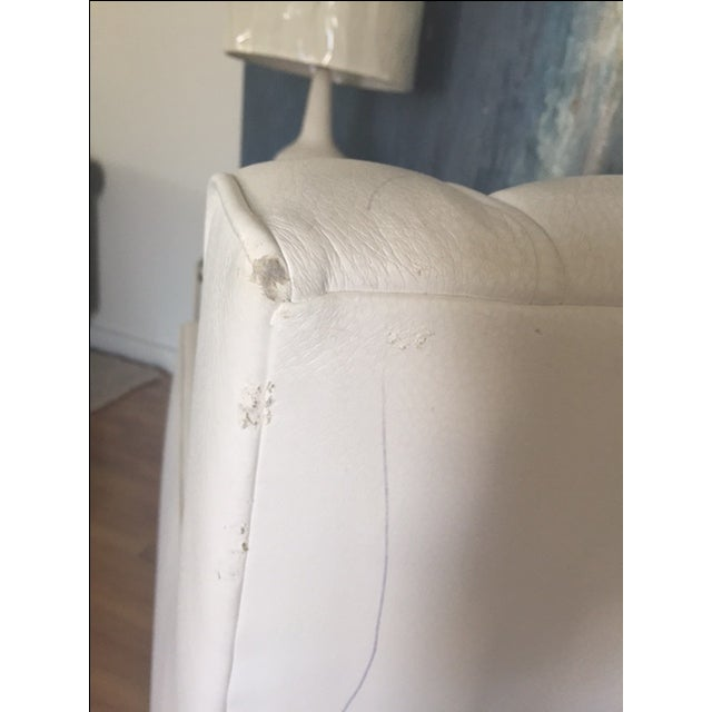 White Faux Leather Swivel Rocking Chair - Image 6 of 7
