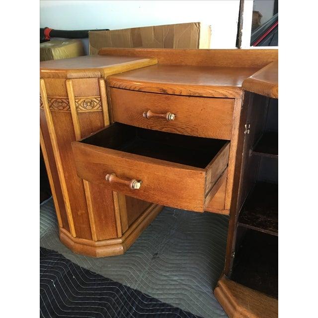 Art Deco Oak English Credenza - Image 6 of 10