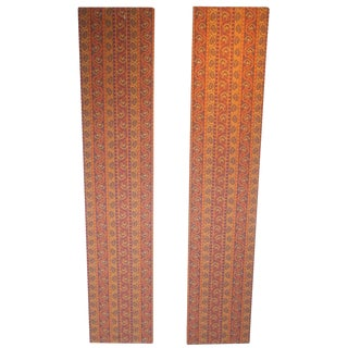 Pair of Large Four-Paneled 1960s Screens For Sale