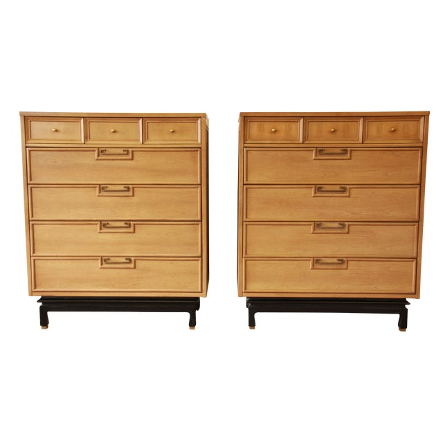 Merton Gershun Chinoiserie Highboy Dressers - Pair - Image 1 of 10