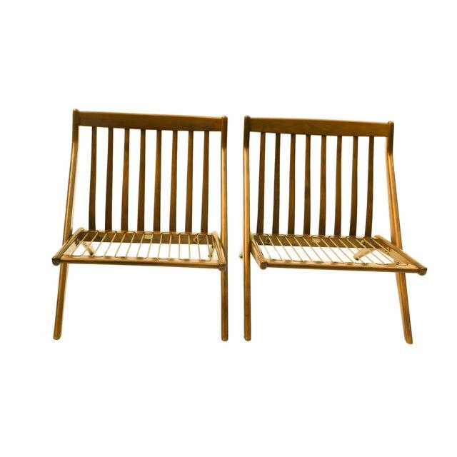 Pair Folke Ohlsson Dux Scissor Lounge Chair - Image 8 of 10