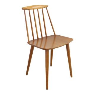 Folke Pålsson for Fdb Møbler J77 Teak Spindle Side Chair For Sale