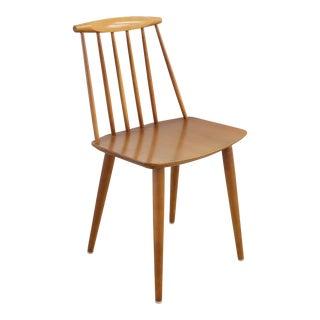 Folke Pålsson for Fdb Møbler J77 Teak Spindle Side Chair For Sale