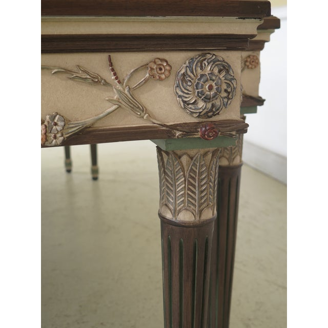 1990s 1990s Regency Ej Victor Paint Decorated Dining Room Table For Sale - Image 5 of 13