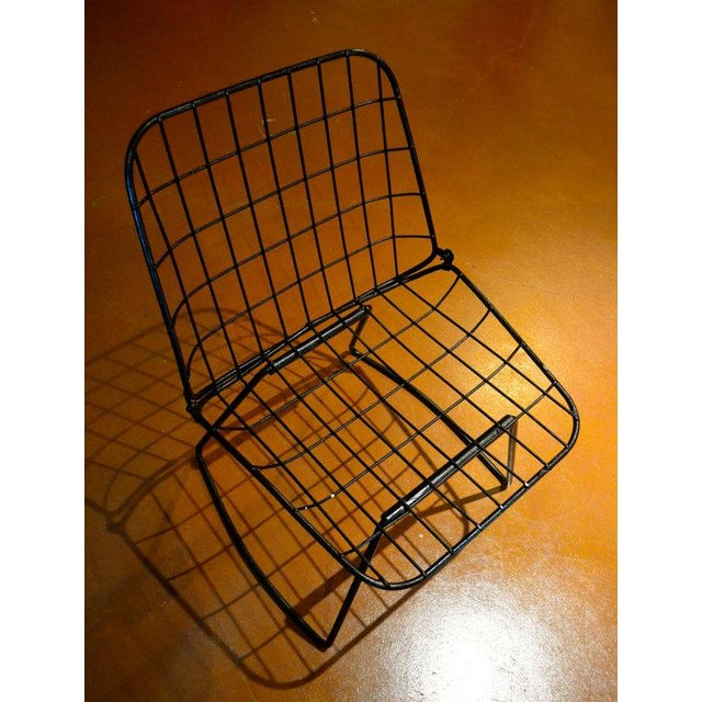 Vintage Danish Modern Wire Side Chair - Image 7 of 10
