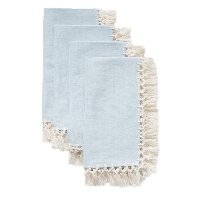 Serenity Sencillo Napkins - Set of 4 - Image 5 of 5
