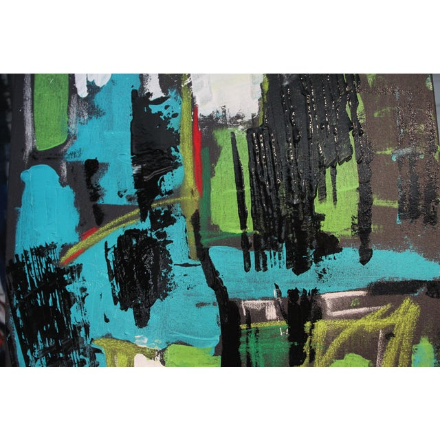 """2017 """"BU 4"""" Abstract Acrylic Painting For Sale - Image 5 of 10"""