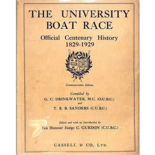 The University Boat Race: Official Centenary History 1829-1929 For Sale