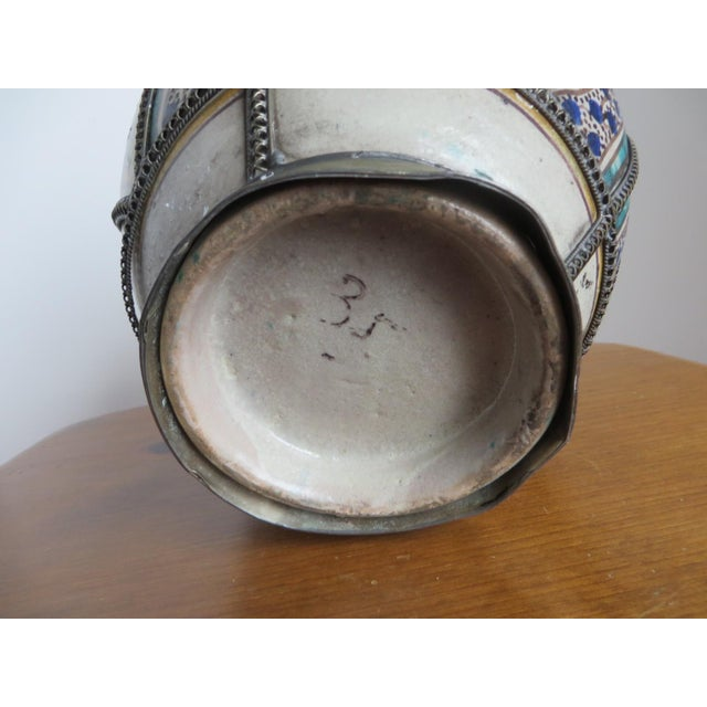 Antique Moroccan Jar with Filigree - Image 7 of 11