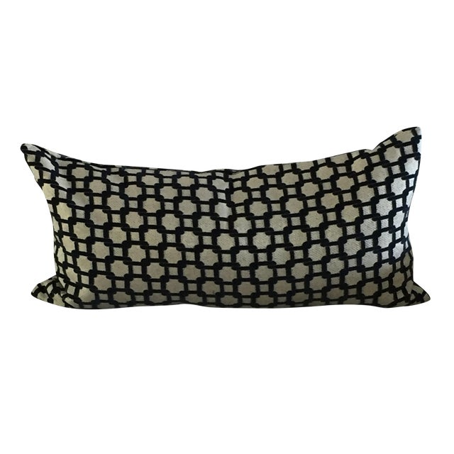 Mod Navy & Tan Textured Pillow - Image 1 of 4