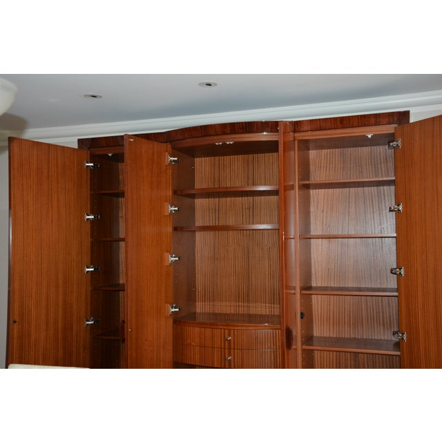Mid-Century Modern Dakota Jackson Custom Heraldic Bowfront Cabinet For Sale - Image 3 of 11