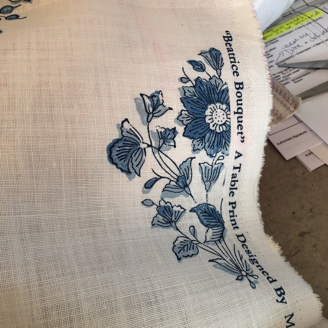 Fabric Schumacher Beatrice Bouquet Fabric For Sale - Image 7 of 8