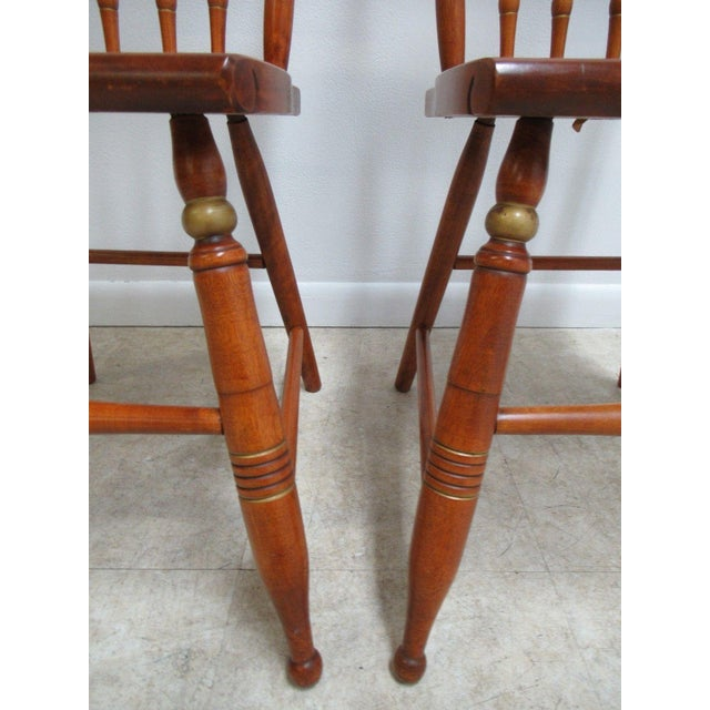Bent Brothers Plank Bottom Hitchcock Style Dining Chairs - A Pair For Sale - Image 9 of 11