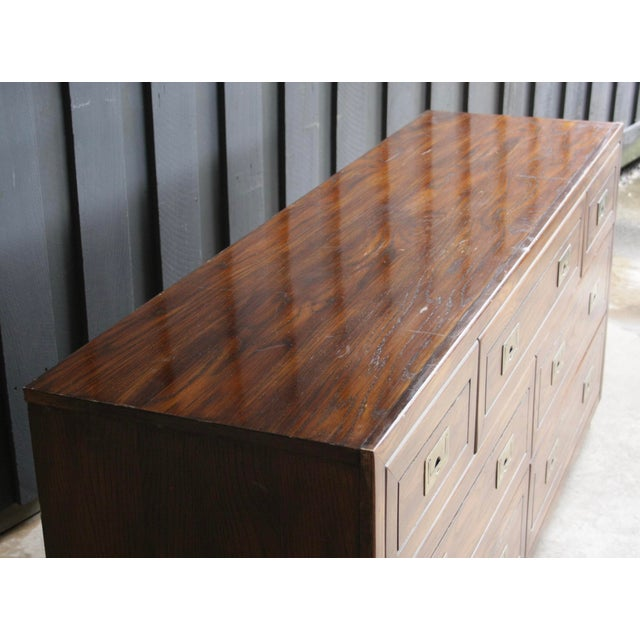 Campaign Style 7-Drawer Dresser For Sale In Dallas - Image 6 of 11