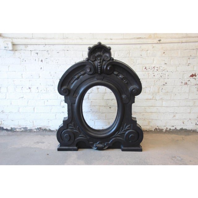 19th Century Antique French Cast Iron Dormer For Sale - Image 4 of 12