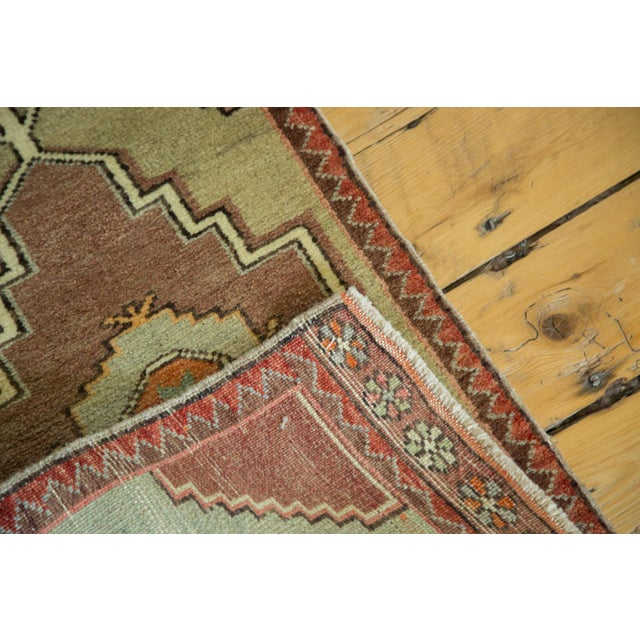 "Vintage Turkish Oushak Runner - 1'7"" x 2'8"" For Sale - Image 5 of 6"