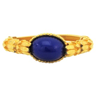 1960s Kenneth Jay Lane Bracelet with Lapis For Sale